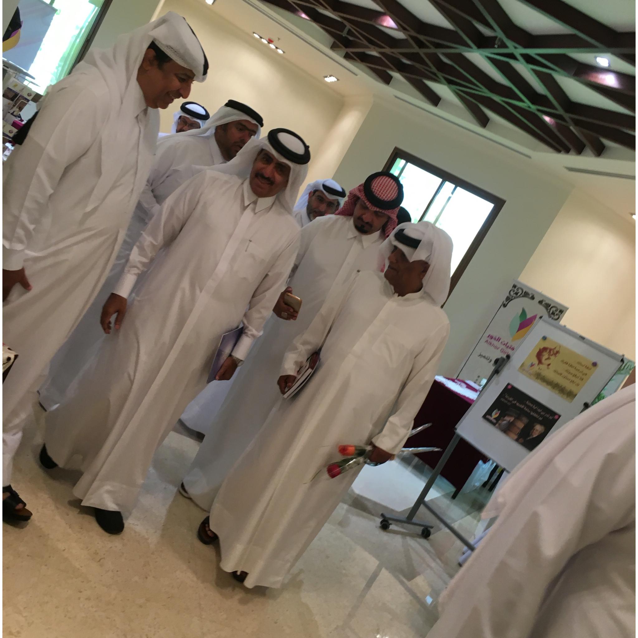 Post girls Khor Al Khor exhibition center for the book in 2016